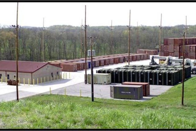 US Army Photo.  LEMC's comprehensive outloading facility.