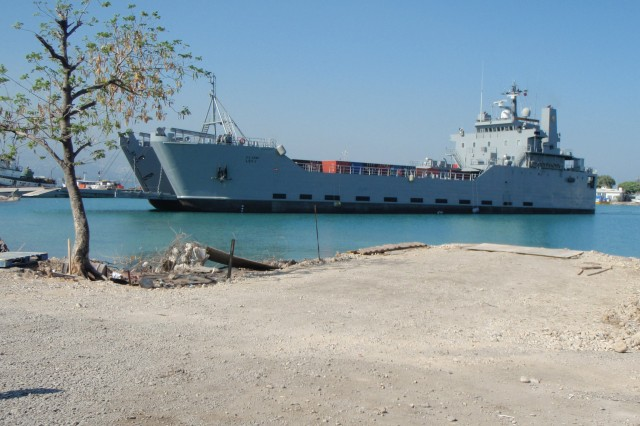 The LSV-1 prepares to make landfall in Port-au-Prince, Haiti, during Operation Unified Response.