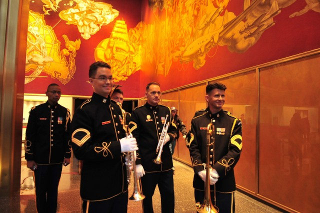 U.S. Army Brass Quintet does gig on Today Show