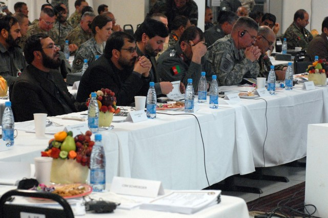 Afghan, coalition leaders discuss strategy