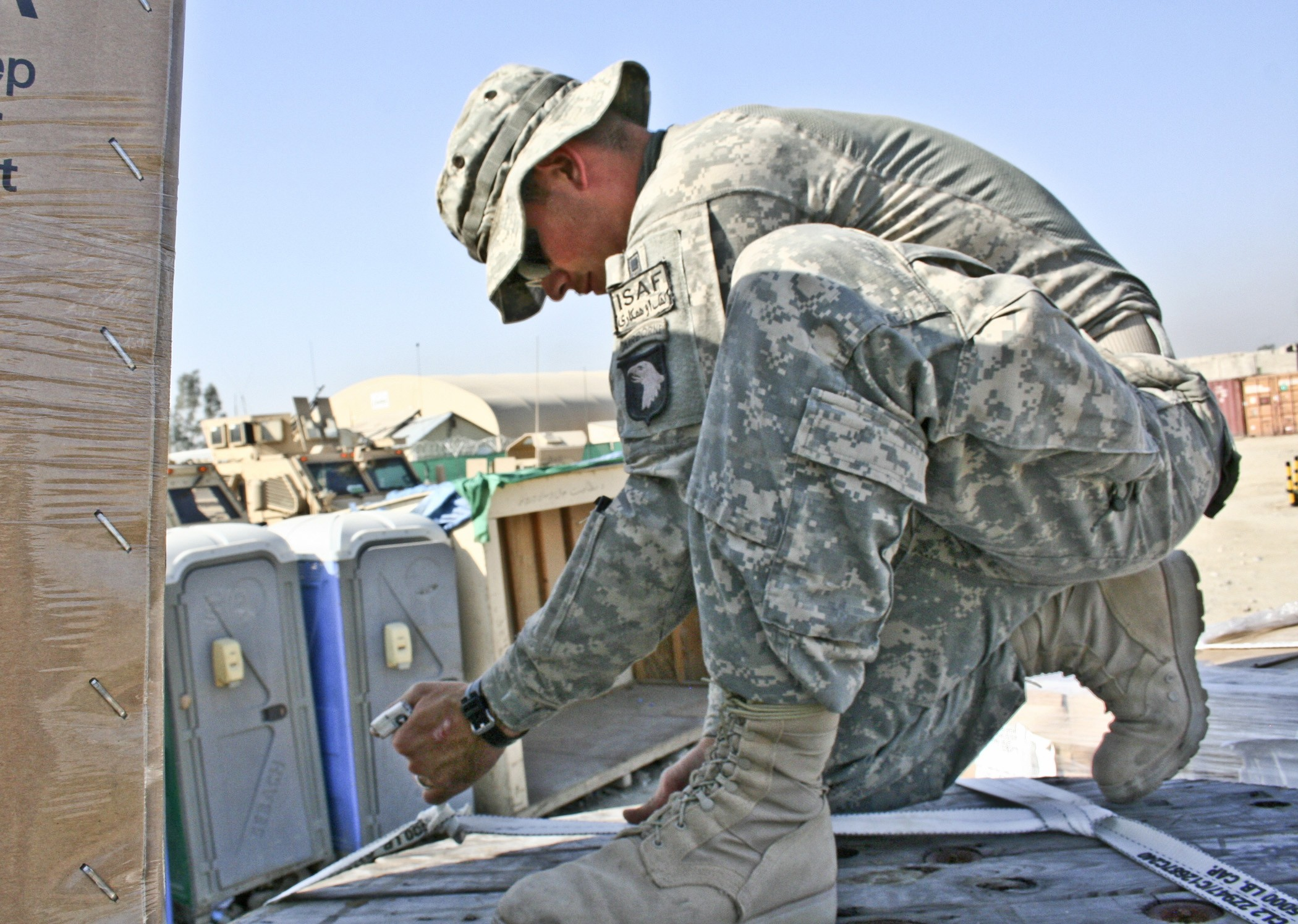 A day in the life of an Army truck driver in Afghanistan