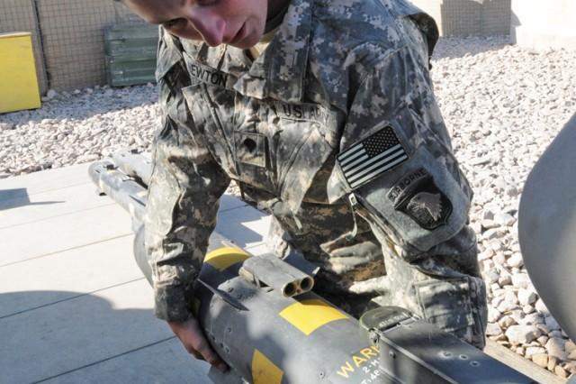 101st Combat Aviation Brigade Armament Soldier Sets Standard for Hard Work, Job Discipline