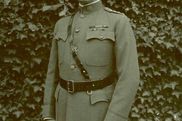 General John J. Pershing, Commander-in-Chief of the American Expeditionary Forces in France during World War I.
