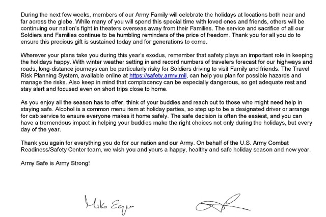 2010 Exodus Message from USACR/Safety Center Leadership