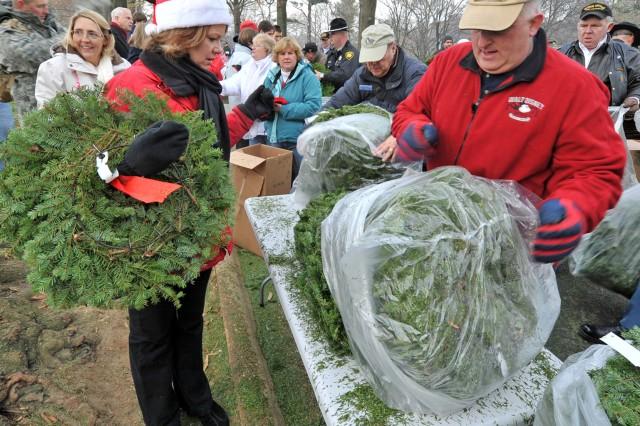 Distributing Wreaths