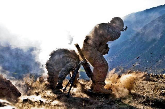 Firing a mortar