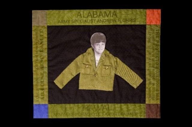 Spc. Andrew Chris' quilt square
