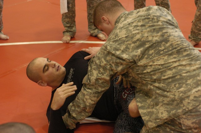 Local Army Reserve Soldiers complete combatives training