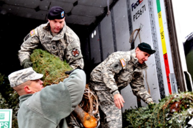 Soldiers' Families receive free Christmas trees