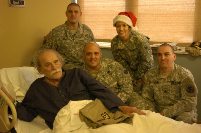 Local Army Reserve Soldiers send Christmas wishes to veterans