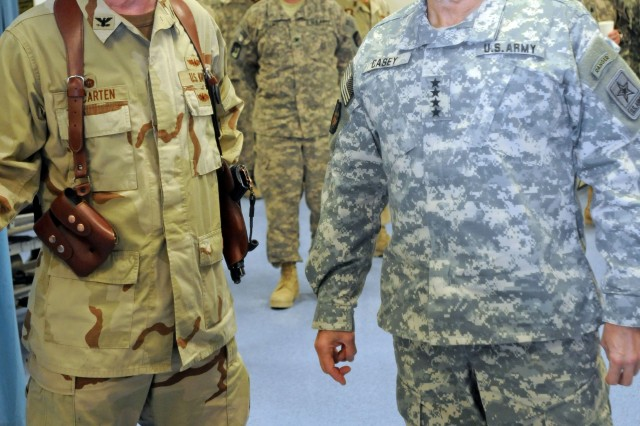 Army Chief of Staff Gen. George W. Casey visits medical center at Kandahar, Afghanistan