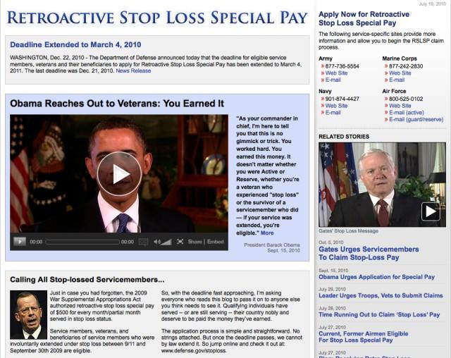 Stop Loss information portal