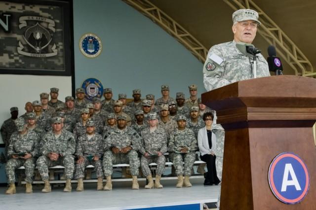 CSA speaks to Arifjan troops