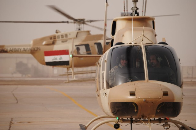 Training Iraqi Army pilot