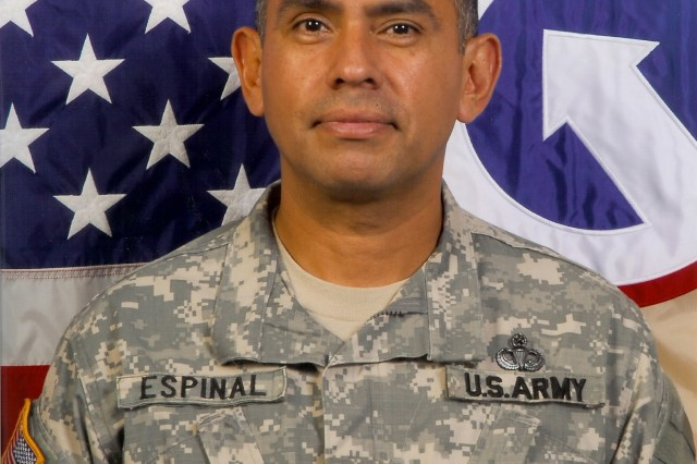 Command Sgt. Maj. Danfert J. Espinal is command sergeant major of the 1st Sustainment Command (Theater).