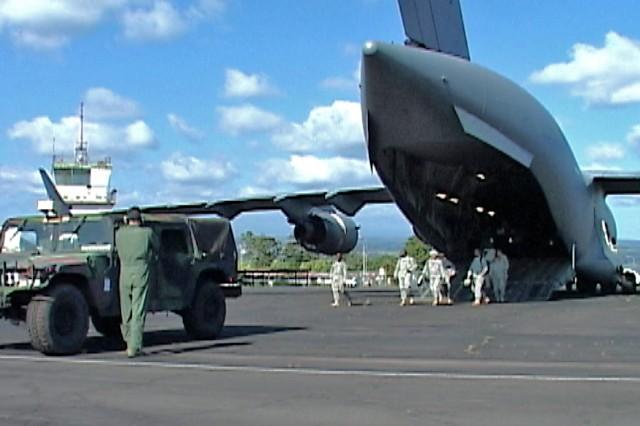 Loading C-17 Globemaster III
