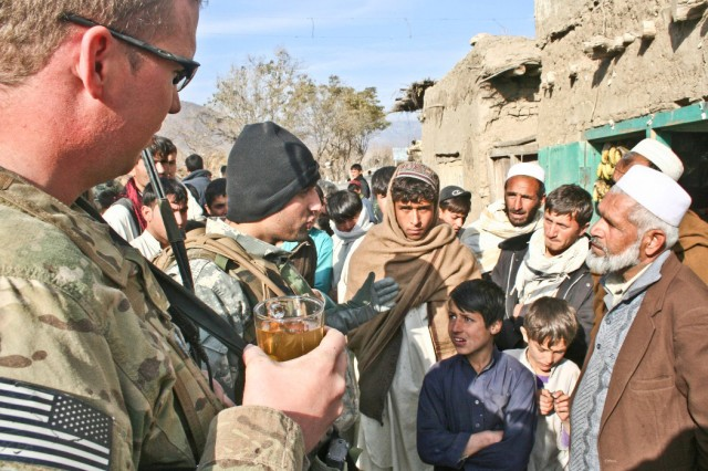 Chatting with Afghan elders