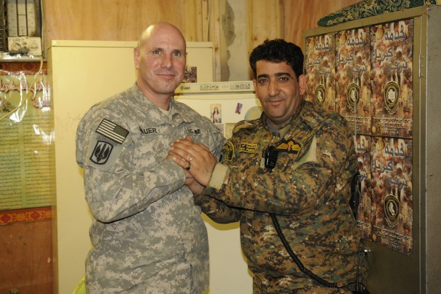 'Lightning' battalion senior enlisted leaders forge partnership with Iraqi Federal Police