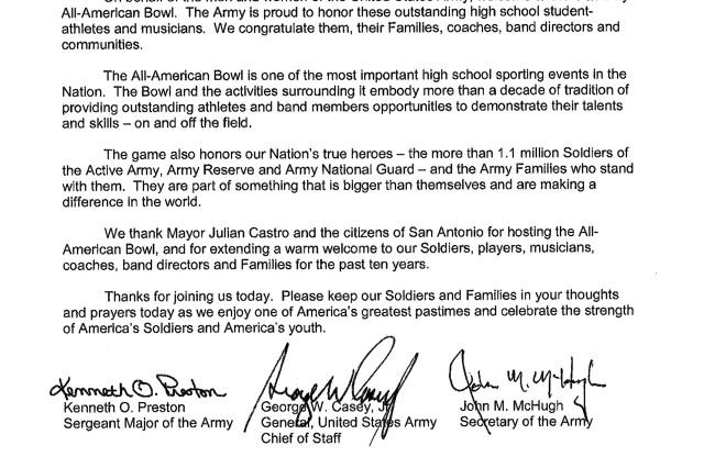 U.S. Army All-America Bowl - January 8, 2011