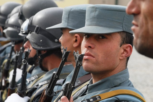 In the Central Unit, Afghan National Police, unit personnel can't drink alcohol, use smokeless tobacco, nor smoke while serving, otherwise they'll be fired.