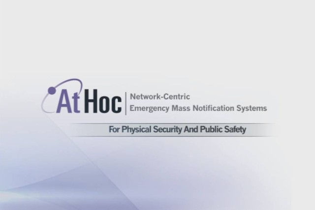 AtHoc, a network-centric emergency mass-notification system being introduced to Natick Soldier Systems Center, will allow leadership to reach employees quickly in times of emergency.