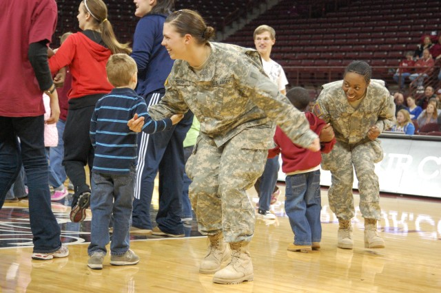 Homecoming: Soldiers return after holidays