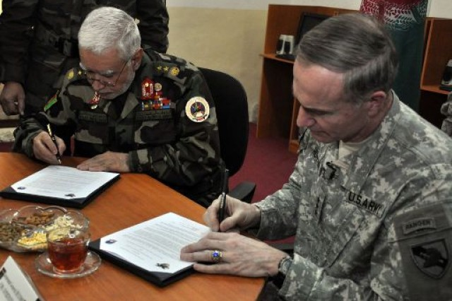 West Point signs agreement with Afghan Army