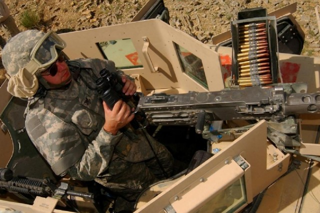 The Objective Gunner Protection Kit (OGPK) is an integrated armor and ballistic glass turret that is mounted onto the turret ring of tactical and armored vehicles. The kit consists of a turret shield, gun shield and all necessary hardware for mounting the system to the vehicle. The OGPK was named one of the Army's 10 Greatest Inventions in 2007.