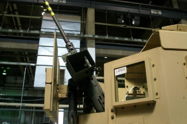The Objective Weapon Elevation Kit (OWEK) elevates the M2 assembly, enabling gunners to engage targets up to 80 degrees while remaining protected within the gunner protection kit. The OWEK was named an Army Greatest Invention of 2009.