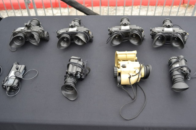 The PVS-7 and PVS-14 night vision goggles are the latest generation night vision technology from the U.S. Army.  The goggles allow the Warfighter to spot infrared illuminators not visible by the naked eye.