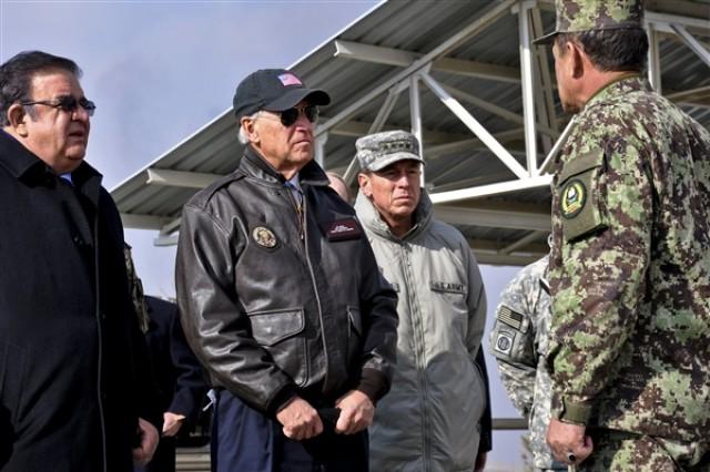 Biden greets commander