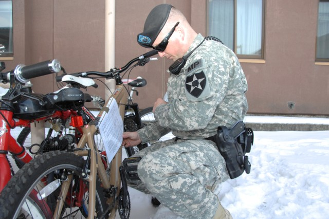Military police begin Area I bicycle roundup