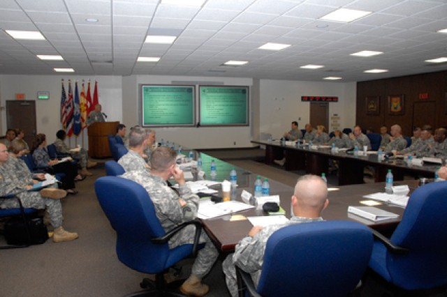 SCHOFIELD BARRACKS, Hawaii - Council attendees discuss behavioral health services for Soldiers at the Community Health Promotion Council, Jan. 4, here. The council includes Army Hawaii senior leadership and focuses on initiatives and recommendations that help improve everyone's quality of life.