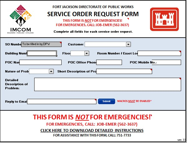 post work order requests go online article the united states army