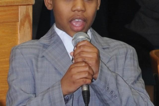 Nine-year old inspires at MLK Jr. prayer breakfast