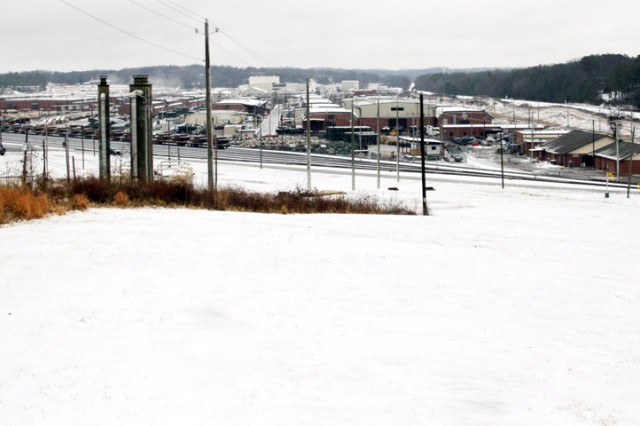 Anniston Army Depot was covered in white after snow and ice hit Calhoun County Jan. 9-10.