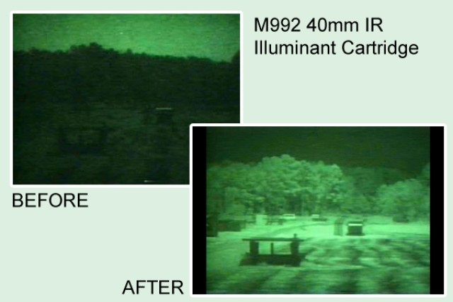 Approved for full materiel release on Oct. 8, 2010, the M992 provides an illumination/signaling capability via an infrared candle – a first of its kind for the M203 and M320 grenade launchers. The round can also be fired from the legacy M79 grenade launcher.