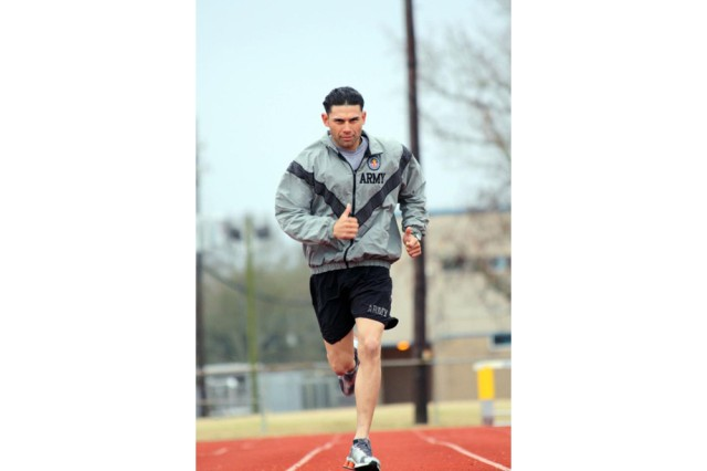 Zuniga runs on track