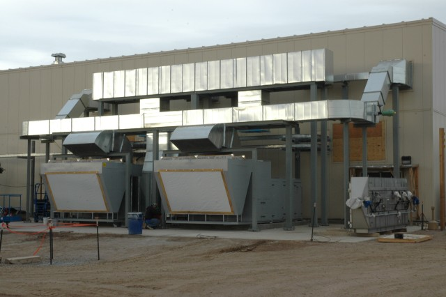 An Air Handling Unit is now installed in the Agent Processing Building.