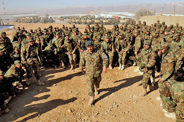 Leading Afghan recruits
