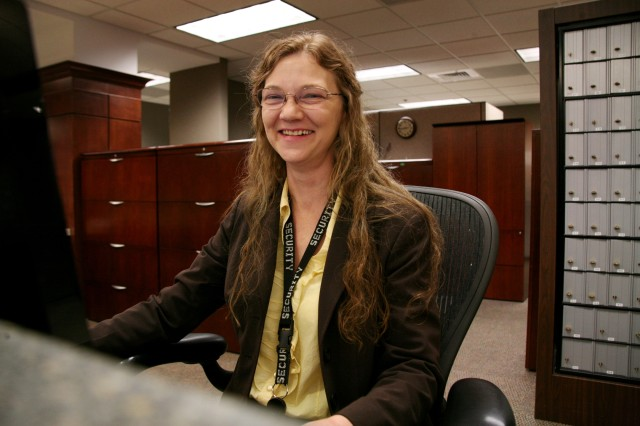 Alice L. Hartley, security assistant for the U.S. Army Space and Missile Defense Command/Army Forces Strategic Command, has only three weeks of federal service under her belt, but she has worked for the command for 20 years.
