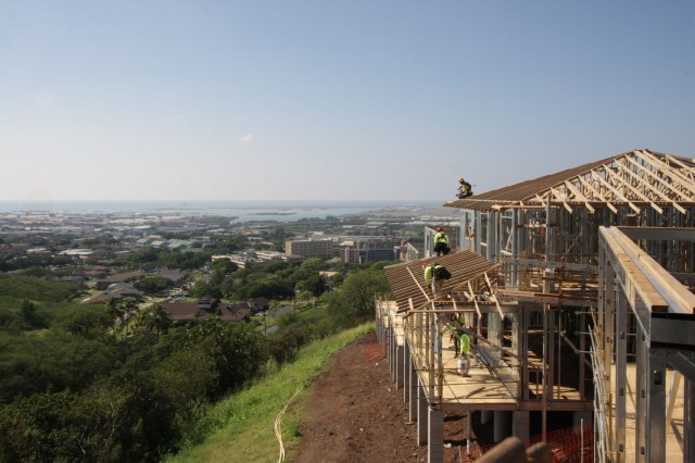 FORT SHAFTER, Hawaii - Families will begin moving into new homes in Fort Shafter's Radar Hill and AMR's Rim Loop during the spring and summer months. Two hundred thirty-seven new units comprise the neighborhoods.