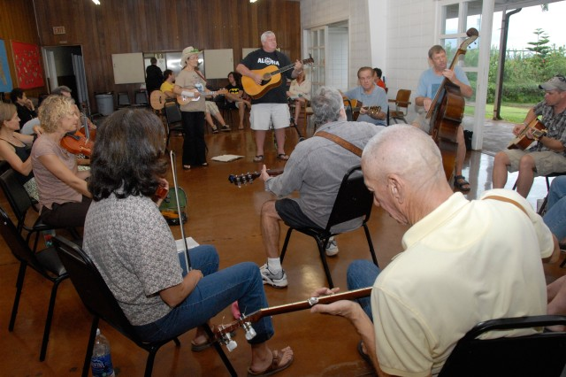 WAHIAWA, Hawaii - The Bluegrass Hawaii Traditional and Bluegrass Music Society includes musicians who play acoustic bluegrass, newgrass, mountain, roots, traditional country, Americana, folk, western, Celtic, Irish and Hawaiian. All Soldiers, family members, retirees and Army civilians are invited to monthly jam sessions at St. Stephen's Episcopal Church in Wahiawa, whether to play or just listen and clap along.
