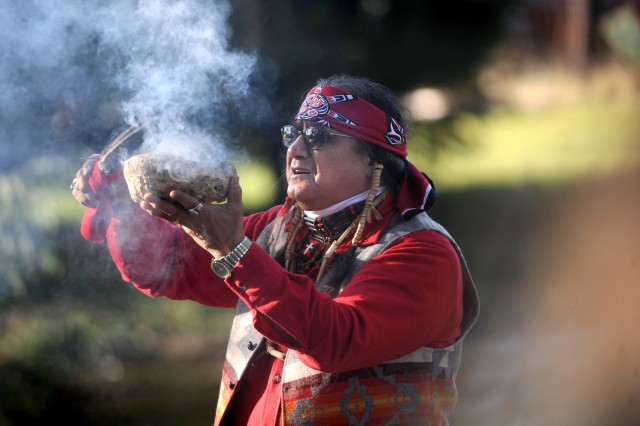 """We pray, Heavenly Father, that you bring the salmon back strong this year,"" Nisqually Tribal Elder Bob Sison says, ""for this is our living; this is our strength."""