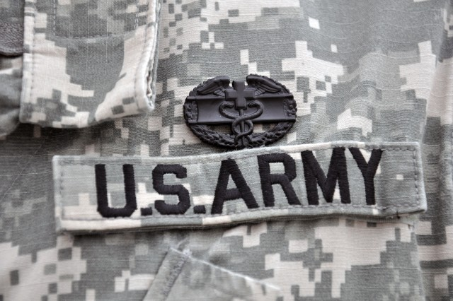 His work in Iraq as a medic during a January 2009 IED and small-arms attack earned the Combat Medical Badge for Spc. Aaron Omdahl. He is now with the U.S. Army Research Institute of Environmental Medicine at Natick Soldier Systems Center.