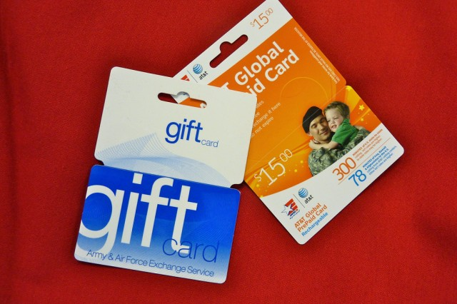 AAFES Gift and Phone Cards