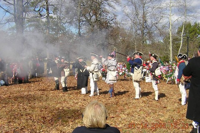 Re-enactors at the Cowpens Battlefield, South Carolina, 2006.