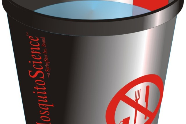 The Lethal Mosquito Breeding Container, known as Trap-N-Kill, is distributed by SpringStar.