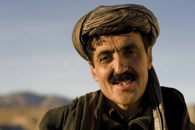 The district governor of eastern Kandahar province's Maruf district, Abdul Samat Durrani, pictured here Jan. 26, 2011, does his best to address the needs of a population estimated at 50,000 Afghan citizens.