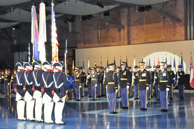 The 3rd United States Infantry Regiment (The Old Guard) conducts a Department of the Army Retirement ceremony on January 27, 2011. The Ceremony was Charlie Company's first since returning from Iraq on August 29, 2010.